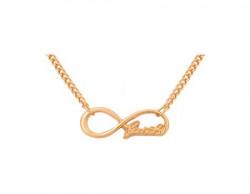 Accessorisingg Golden Infinity Faith Pendant for Women- Valentine Special[PD008]