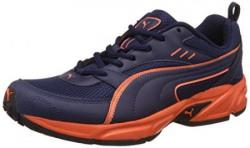 Puma Men's Atom Fashion III Dp Peacoat and Orange Clown Fish Running Shoes - 8 UK/India (42 EU)