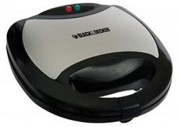 Black & Decker TS2040 750-Watt 2-Interchangable Plate Sandwich Maker (Black)