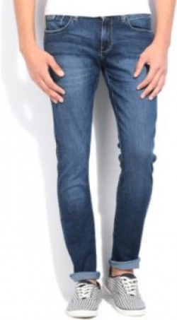 Wrangler Skinny Men's Blue Jeans at 80% OFF