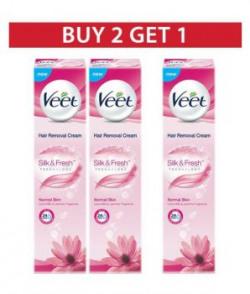 Veet Normal Skin Buy 2 Get 1 Free Hair Removal Cream 100 Gm