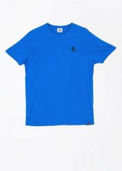 Lee Solid Men's Round Neck Blue T-Shirt