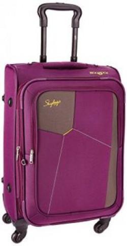 Skybags Rubik Polyester 58 cms Purple Softsided Suitcase (STRUBW58PPL)