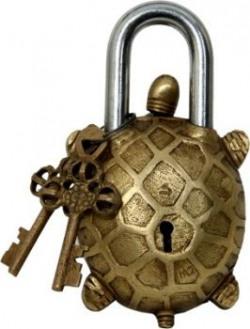 Decors Brass Design Padlock at 60 % OFF