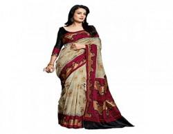 Jay Varudi Creation Cotton Silk Saree (Sb01_Multi-Coloured)