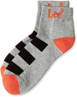 Lee Men's Socks (8904233608601) (RDLE-2323-A001_Grey Melange )