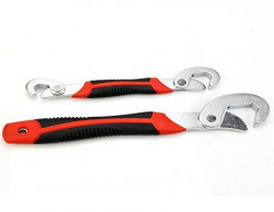 Snap 'n Grip Auto Adjustable Universal Wrench (Set of 2, Black and Red)