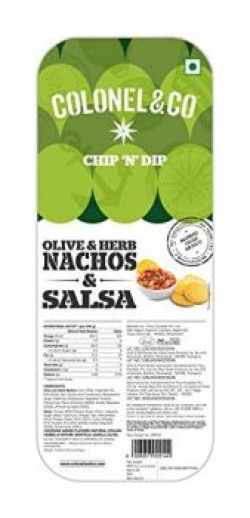 Colonel & Co Chip N Dip Olive and Herb Nachos with Salsa, 90g
