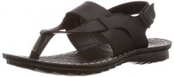 Alpha Creations Men's Black Sandals and Floaters - 8 UK (AC 22)