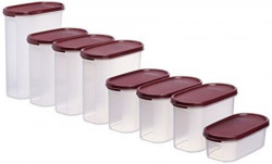 Signoraware Organise Your Kitchen Set, 8-Pieces, Maroon