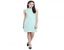 Bombay high Women's Cotton A-Line Dress (BH17WCD-1007-GREEN-L)