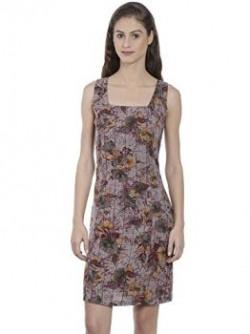 Bombay High Women's Cotton A-Line Dress (BH16WDRS-008-MRN-XL)