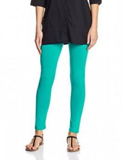 Myx Women's Cotton Stretch Leggings (AW16LEG01N_Aqua Green_Large)