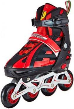 Ferrari FK3 Adjustable Skates, Youth Size 38-41 (Black)