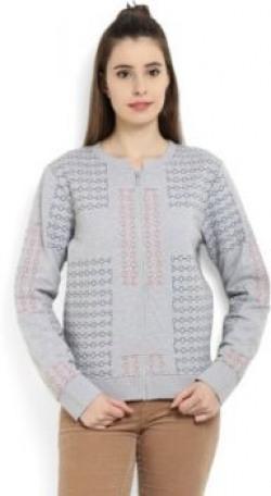 United Colors of Benetton Full Sleeve Self Design Women's Sweatshirt