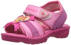 Disney Girl's Pink Vinyl Fashion Sandals - 5 kids UK/India (23 EU)