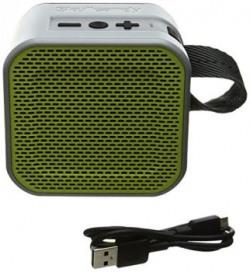 Skullcandy Barricade Mini Bluetooth Speakers (Grey/Hot Lime)