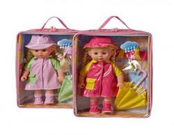 Hamleys Calinou Doll and Umbrella, Multi Color (Color May Vary)