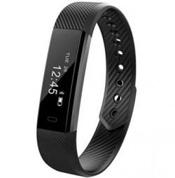 ENHANCE Limited edition ultimate ID 115 Black Premium Fitness band (Black)