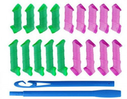 Homeoculture 18 pcs rollers + 2pcs Hooks DIY Magic Hair Curler High Speed Changing Magic Leverag Hair Curler & Perm