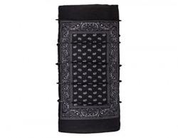 Autofy Unisex Aladdin Carpet Print Lycra Headwrap for Bikes (Black and White, Free Size)