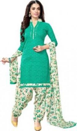 Saara Cotton Floral Print Salwar Suit Dupatta Material