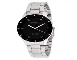 Silver Kartz Analogue Black, White Dial Women's Watch -WTW-003