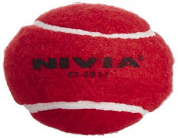 Nivia Heavy Weight Cricket Tennis Ball, Pack of 6 (Red)