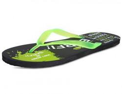 SCATCHITE Men's Printed Green Flip Flops & House Slippers (9)