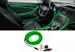 Speedwav Car Interior Ambient Wire Decorative LED Light Green-For Cars