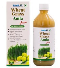 Healthvit Wheat Grass Amla Juice - 500 ml