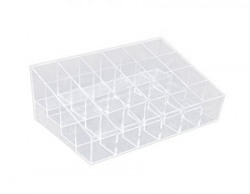 Imported Clear Acrylic 24 Lipstick Holder Display Stand Cosmetic Organizer Ma...-13006670MG