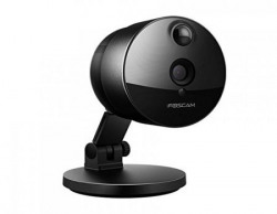 Foscam C1 Indoor HD 720P Wireless Plug and Play IP Camera with Night Vision Up to 26ft, Super Wide 115 Degree Viewing Angle, PIR Motion Detection, and More (Black)