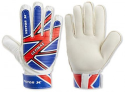Vector X Ultimax Keeping Glove, Size 10 (White/Blue/Red)