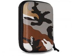 GIZGA 2.5  Hard Drive Case Hard Shell Camouflage (Brown)
