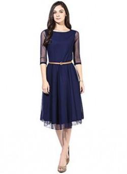 Raa Retail Fashions Women's Navy Blue Sketer Dress