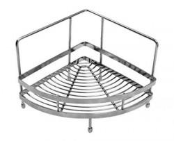 Klaxon Single Corner Shelf Kitchen Basket Stainless Steel