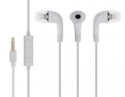 Pink Petal Premium Quality Wired Earpods for Samsung and many other phones Compatible Earphone / Handsfree with 3.5mm jack(White)