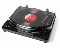 Ion Audio Classic LP Vinyl Record Player and USB Conversion Turntable with Software for Mac and PC, Black