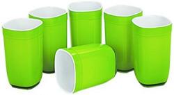 Cello Ceramica Square Glass Set, 6-Pieces, Green