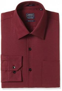 Arrow Men's Formal Shirt (8907378503688_ASSF0046_42_Burgundy)
