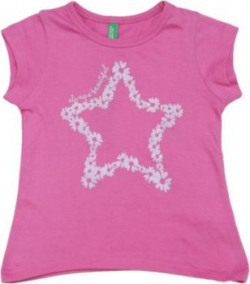 United Colors of Benetton Girls Printed Cotton T Shirt