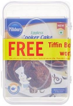 Pillsbury Cake Mix, Choco Idli, 120g (Pack of 2) with Free Tiffin Box