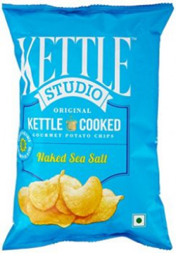 Kettle Studio Potato Chips, Naked Sea Salt, 125g
