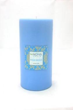 Aroma India Scented Pillar Candle 3  x 6  Oceanbreeze