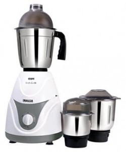 Inalsa Eon 550-Watt Mixer Grinder with 3 Jars (White/Grey)
