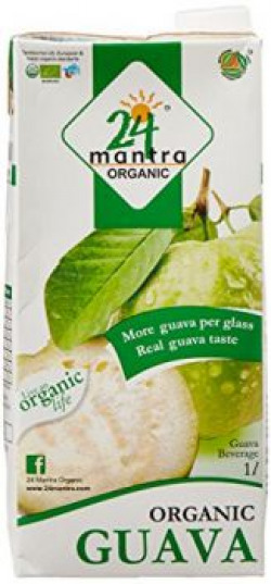 24 Organic Mantra Products Guava Juice, 1 Liters