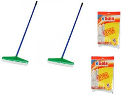Gala 4 Piece Leader Wiper with Floor Cloth Combo Set