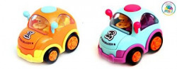 Smiles Creation Push And Go Friction Cartoon Car(Set Of Two)