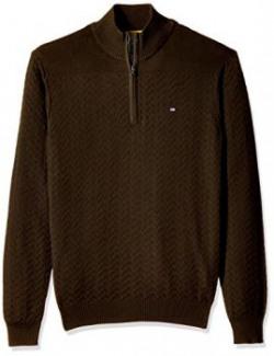 Arrow Sports Men's V-Neck Cotton Sweater (8907163894625_AKMS7739A_S_Olive)